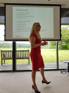 Liz Beck at Employment Law Breakfast Roffey House