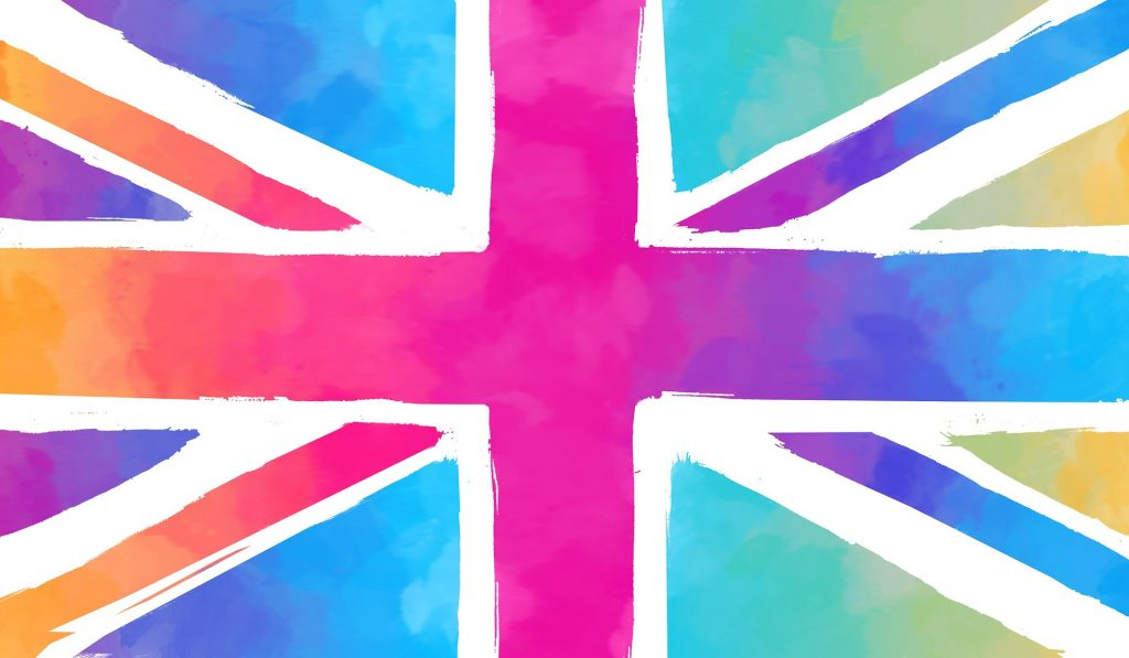 Union jack pink and blue