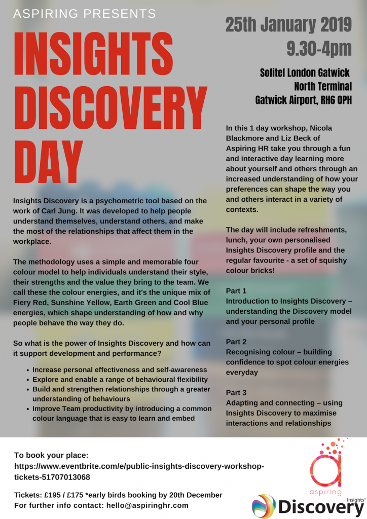 Insights discovery day workshop flyer